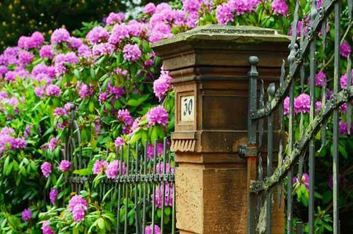 Für Wertigkeit, Qualität und Niveau steht z.B. ein schmiedeeiserner Gartenzaun