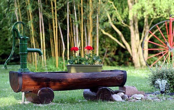 Individueller Gartenbrunnen